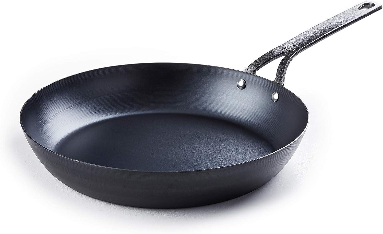 BK Cookware CC002353-001 Black Carbon Steel Skillet, 11'