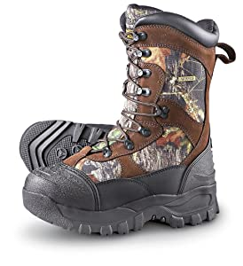 Men's Guide Gear 2400 gram Thinsulate& Ultra Insulation Monolithic Waterproof Boots Mossy Oak