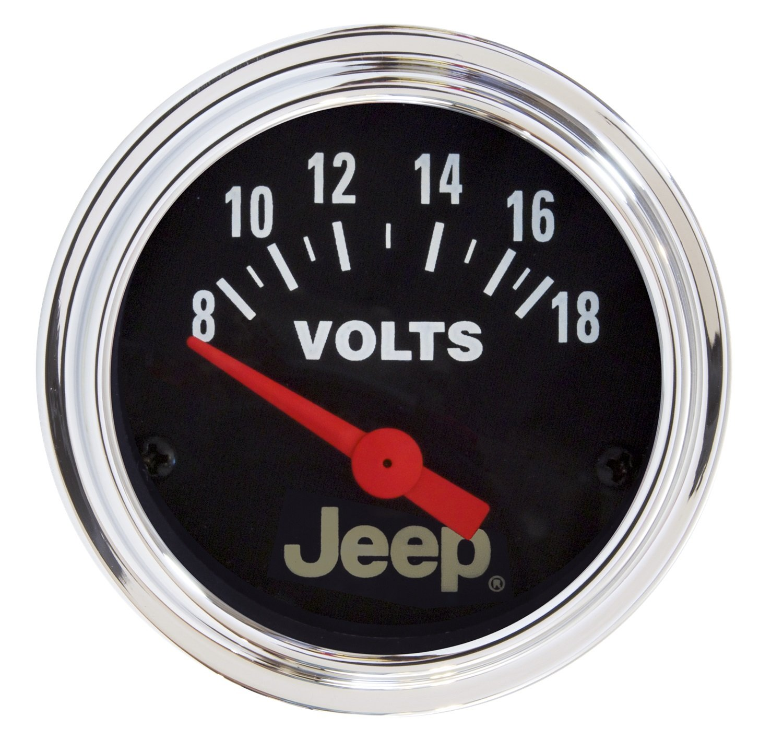 Auto Meter 880242 Jeep Electric Voltmeter Gauge by AUTO METER