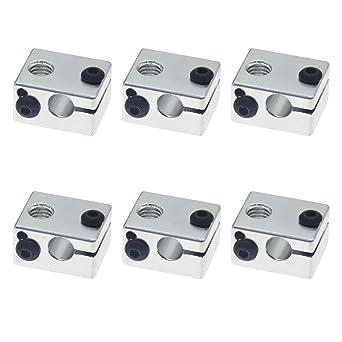 YFF3DプリンタアクセサリE3DV6特別なオールメタル押出機ヒーターアルミブロックサンドブラスト酸化処理6の製品