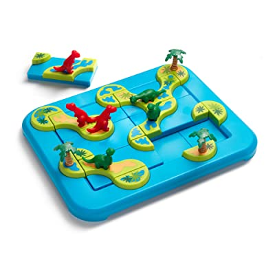 SmartGames Dinosaurs: Mystic Islands Board Game, a Fun, STEM Focused Prehistoric Brain Game and Puzzle Game for Ages 6 and Up: Toys & Games