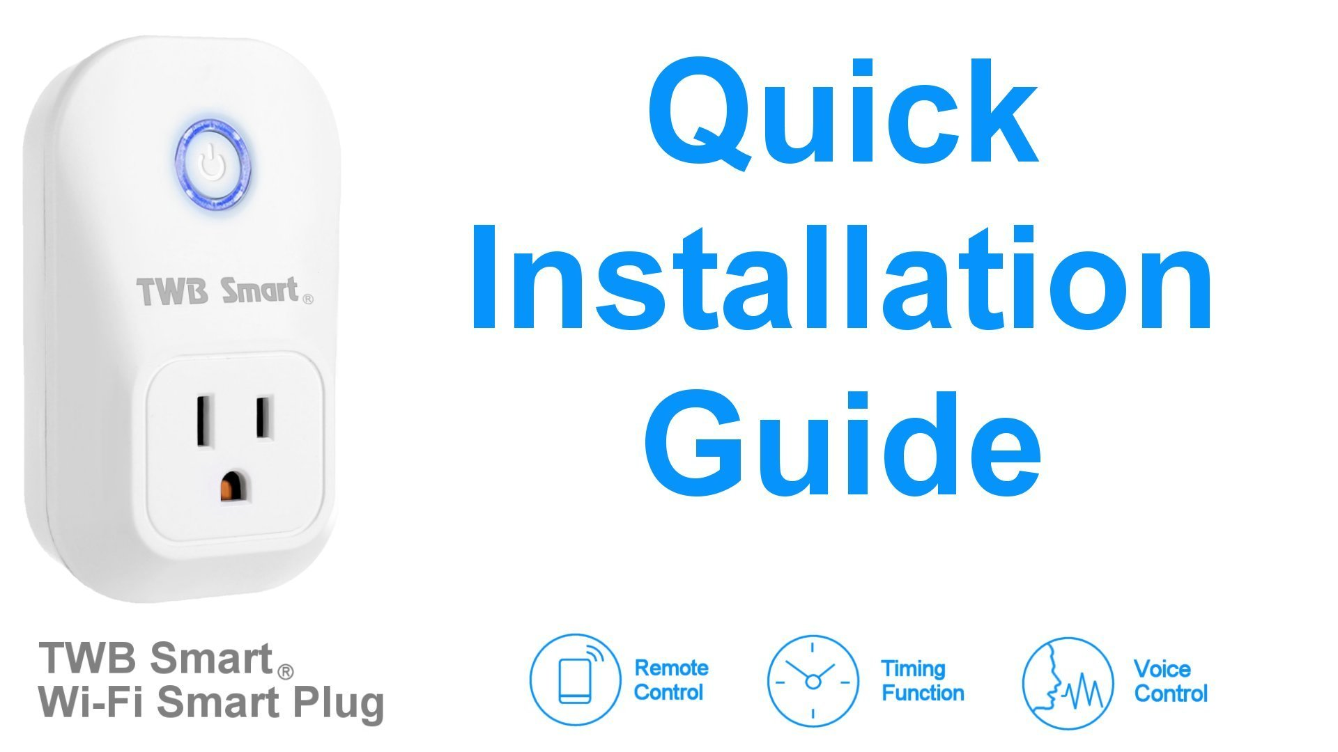 TWB Smart Wi-Fi Smart Plug, Compatible with Alexa and Works with Google Home. Smart Home Electrical Outlet Timer Compatible with Amazon Echo Dot Accessories. For Home Automation (2-Pack) by TWB Smart (Image #9)