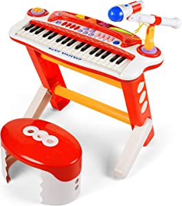 BAOLI 37 Keys Musical Toy Keyboard Multi-Functional Piano Instrument Electronic Organ for Kids
