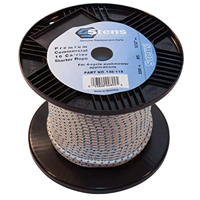 Stens 200' Solid Braid Starter Rope, 5 Solid Braid, ea, 1: Lawn Mower Deck Parts: Industrial & Scientific