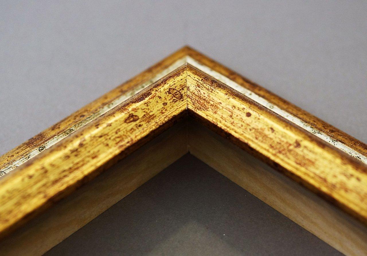 Online Galerie Bingold Wandspiegel Spiegel Badspiegel - Bari 4,2 - - - Silber Gold - 60 x 140 - Außenmaß inkl. Massivholz-Rahmen - viele Größen verfügbar - Modern, Barock, Antik, Vintage 591cbd