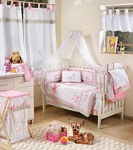 Blancho Pink Dearest Bambi 4 Pc Crib Bedding Set