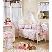 Blancho Pink Dearest Bambi Crib Bedding Accessory - Dresser Cover