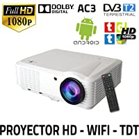 Unicview HD250 - Proyector (WIFI, Android, TDT, USB, HDMI, AC3)