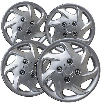 Tapacubos para Toyota Corolla (Pack de 4, fijación a presión de fundas para ruedas