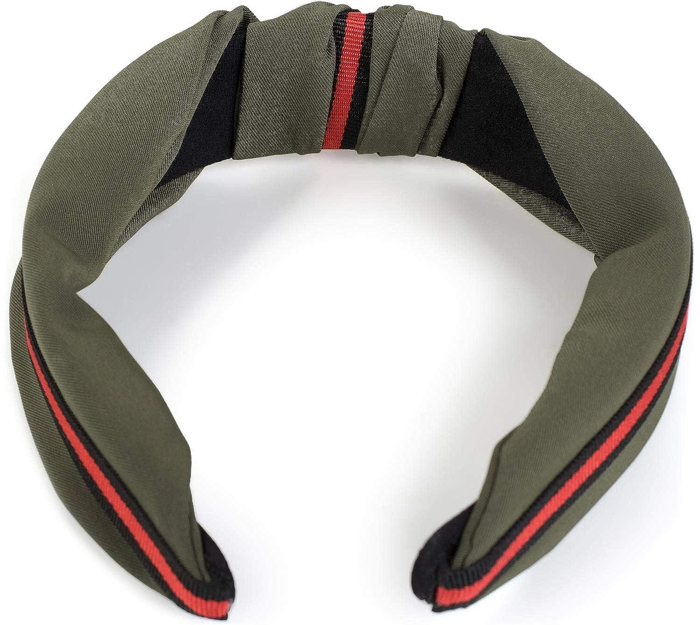 styleBREAKER Damen Haarreif mit Knoten und Zierstreifen Headband 04026018 Retro Style Haarband