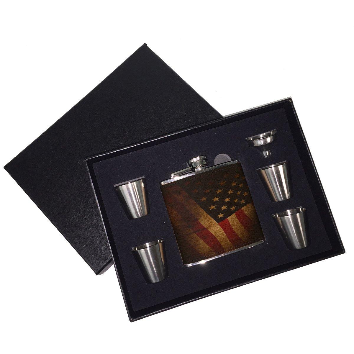 高い品質 アメリカ国旗 – レザーフラスコギフトセット アメリカ国旗 B01J1885IU, DAgDART オリジナルシルバーアクセ:ab23c80d --- a0267596.xsph.ru