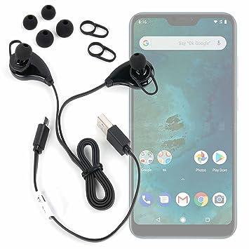 DURAGADGET Auriculares inalámbricos en Color Negro para Smartphone DOOGEE X55, Ulefone S8 Pro, Xiaomi Mi A2 Lite: Amazon.es: Electrónica