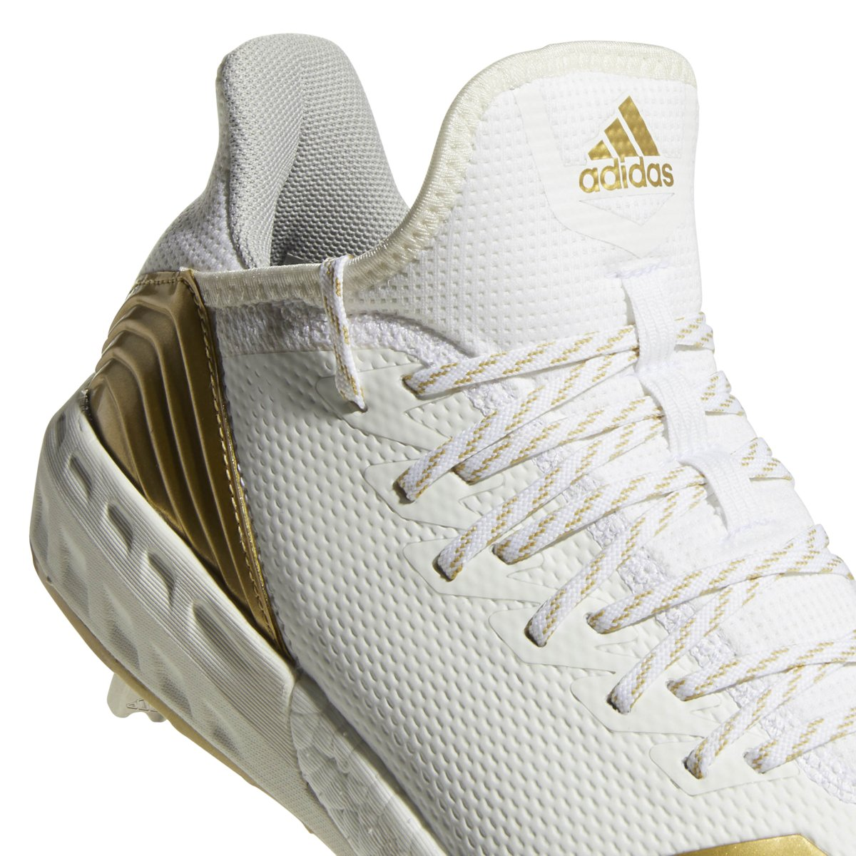 adidas Icon 4 Cleat - Men's Baseball 7.5 White/Gold Metallic