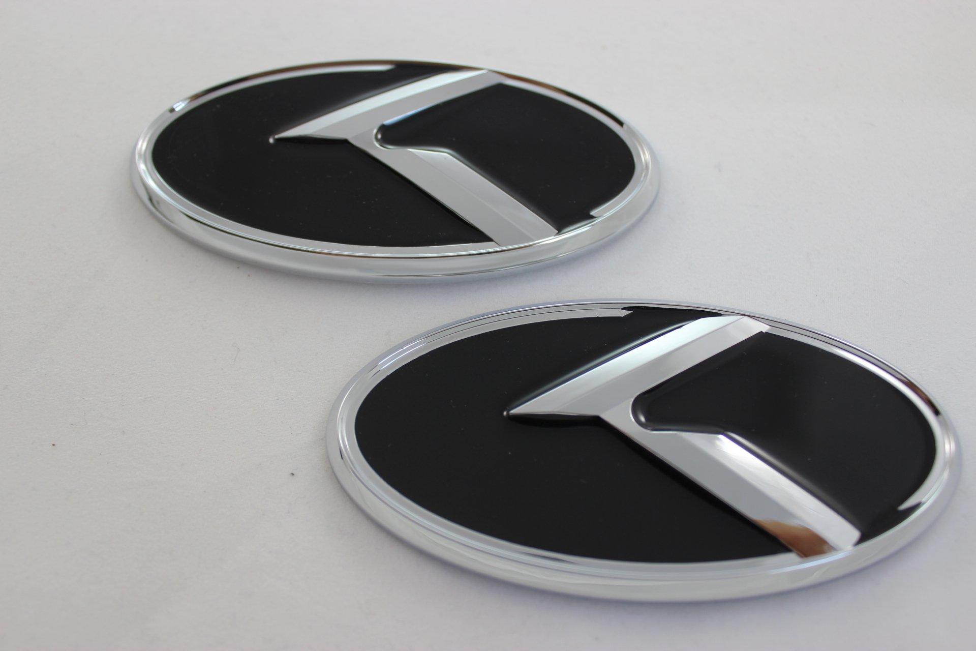 Kia Forte Koup 2pcs Chrome K Logo Vip Speed Badge Emblem Trunk Grille Lid Tail Gate Front Rear Kdm 2011 2012 2013 2014 2015 2016