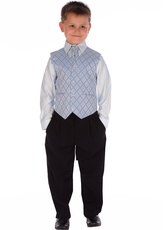 4-Piece Boys Black & Cream Suit: Amazon.co.uk: Clothing