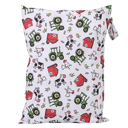 Bolsa para pañales de pañales de tela impermeable y mochila para bebé de gran capacidad para