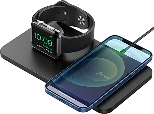 Charging Dock for iWatch SE//6//5//4//3//2 No Adapter//iWatch Cable Seneo 2 in 1 Wireless Charger Wireless Charging Pad for iPhone 12//12 Pro//12 Mini//11//11 Pro Max//SE 2//XS Max//XR//XS//X//8//8P//AirPods Pro//2