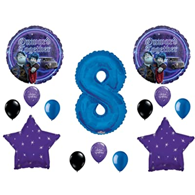 Onward 8th Happy Birthday Party Balloons Decoration Supplies Disney Movie: Everything Else