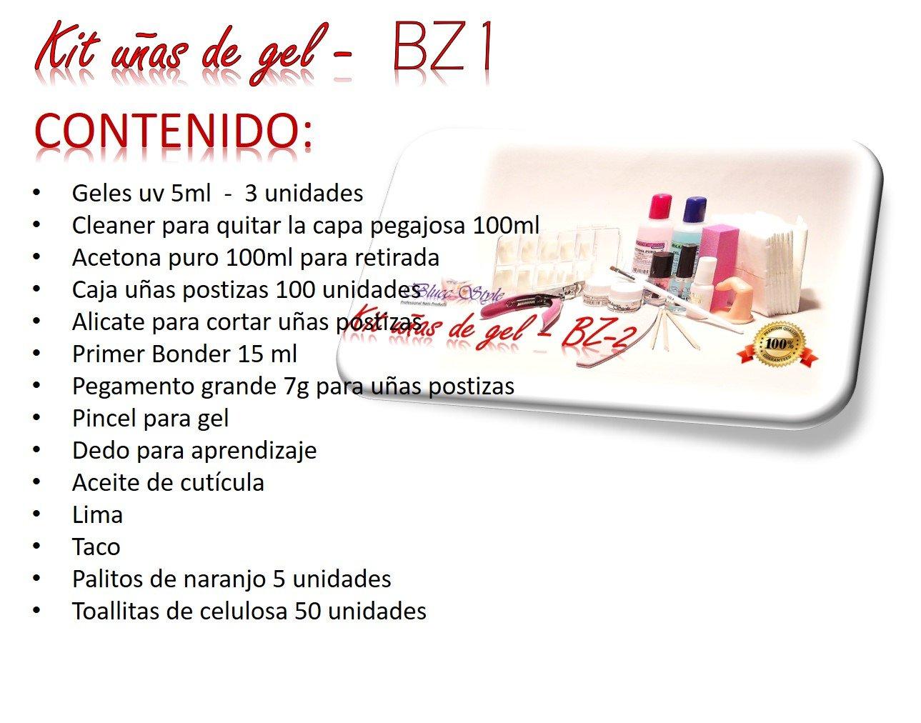 Kit para hacer las uñas de gel-BZ2- Manicura, pediicura,gel uv: Amazon.es: Belleza