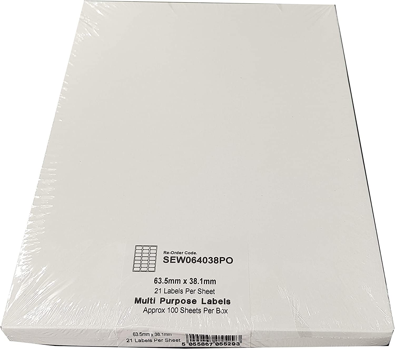 100 Blatt 3000 Etiketten insgesamt EJRange 6 Etiketten pro A4-Blatt Kompatibel mit Tintenstrahl- und Laserdruckern selbstklebende Adressversand-Druckeretiketten
