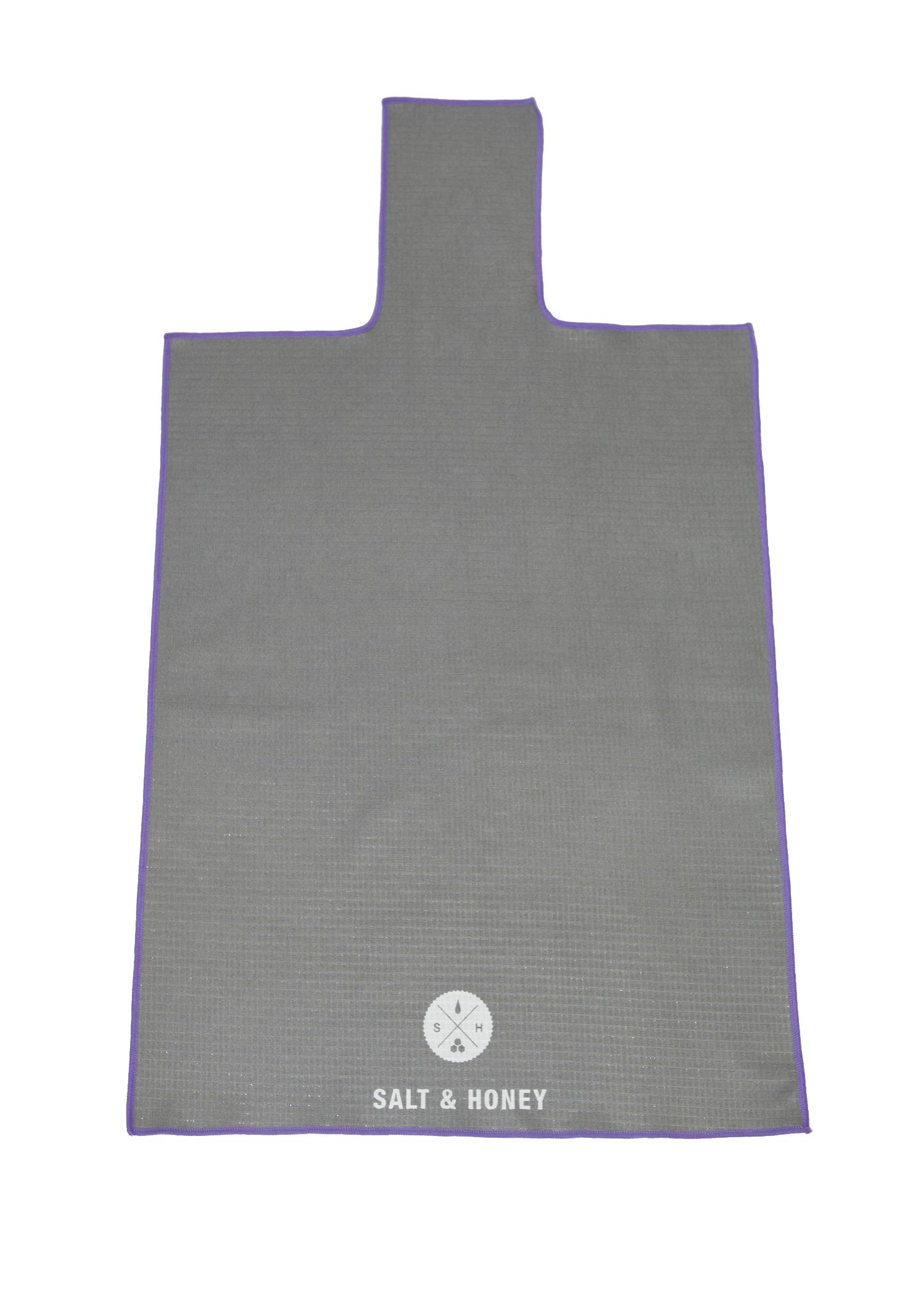 Salt & Honey Non-Slip Pilates Reformer Mat Towel (Gray)