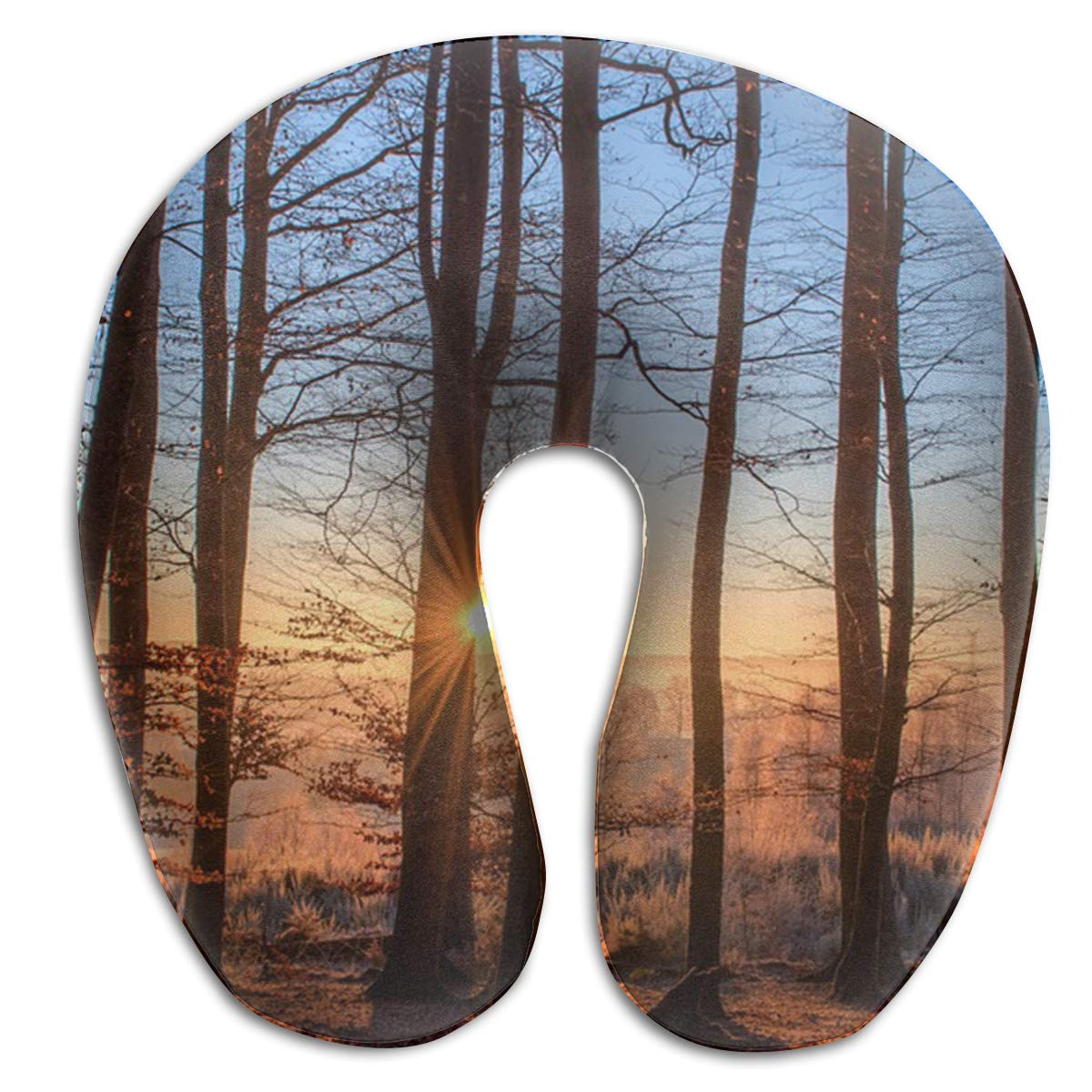 Raglan Carnegie Forest Landscape Sun Trees Nature Wood Light Travel Pillow Memory Foam Neck Support On A Train Airplane Car Bus Or While Camping - Comfortable U Shaped Cushion