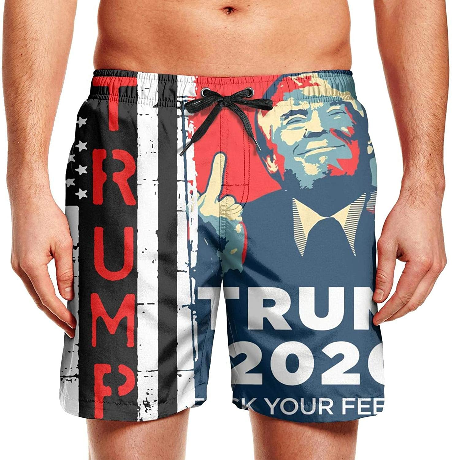 Not applicable Trump-2020-Make-Liberals-Cry-Again for Men Board Shorts Adjustable Colorful Workout Shorts