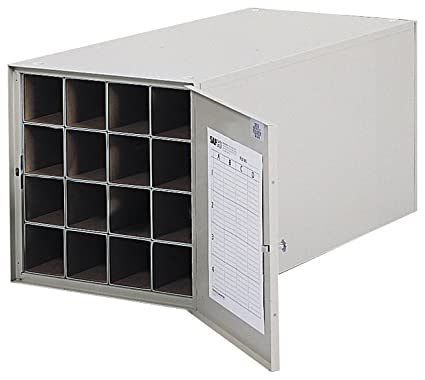 Safco Products 4960 Steel Roll File Horizontal Storage Cabinet, 16 Tube,  Tropic Sand