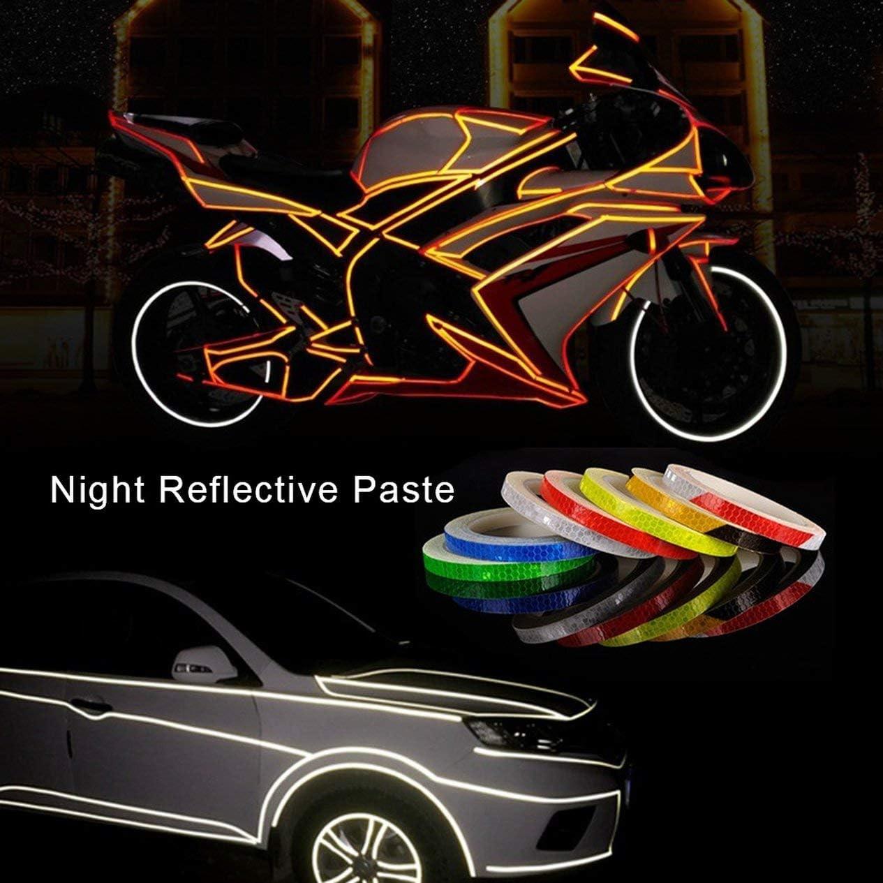EdBerk74 Pegatinas Reflectantes para Bicicletas Accesorios para Bicicletas de monta/ña Equipo de Seguridad Luminosa Dead Fly Bicycle Motorcycle Wheel Body Sticker