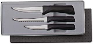 product image for Rada Cutlery Anthem Series Kitchen Knife Set Stainless Steel Knives with Ergonomic Black Resin Handles, Set of 3