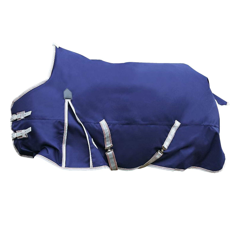 (ウェザビータ) Weatherbeeta 馬用 Comfitec ライトプラス エッセンシャル スタンダードネック ターンアウトラグ 馬着 乗馬 ホースライディング (5フィート 9) (ネイビー/シルバー/レッド) B07K19DCJN ネイビー/シルバー/レッド 5フィート 6 5フィート 6|ネイビー/シルバー/レッド