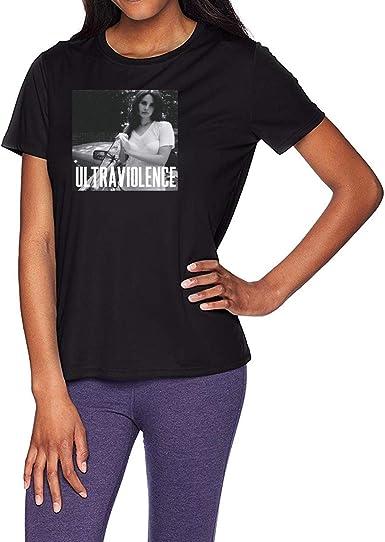 Haoshun Women S Lana Del Rey Ultraviolence T Shirt Tee Top Shirt Black Amazon Co Uk Clothing