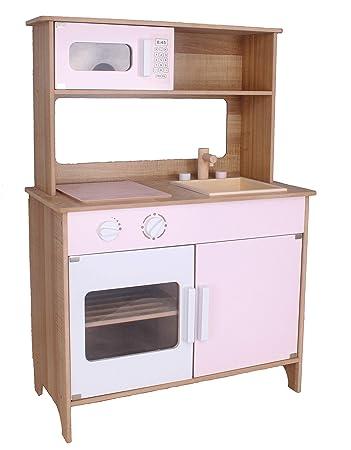 Kinderküche #783 Spielküche Küche Holzküche Kinder Holzspielzeug weiss rosa