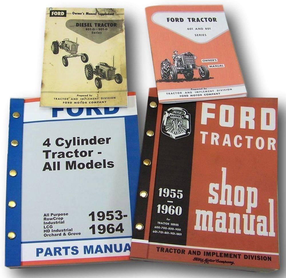 Ford 841d 851d Diesel Tractor Owner Operators Parts 1953 8n 601 Wiring Diagram Repair Service Shop Manuals Industrial Scientific