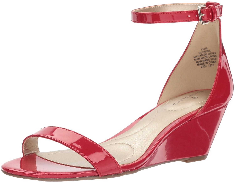 Bandolino Women's Omira Wedge Sandal B077RZVR7P 11 B(M) US|Crimson