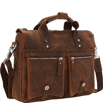 "Vagabond Traveler 15"" TREKKER CLassic Leather Brief"