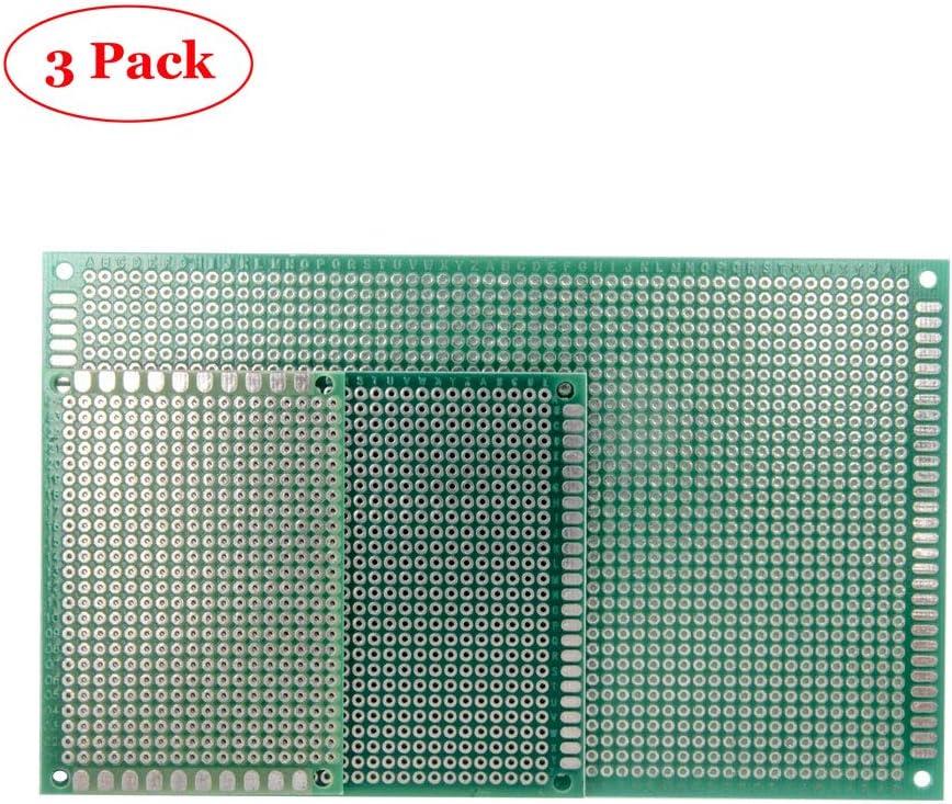 Doble Cara Prototipo PCB estañado Universal BreadBoard 2x8 cm vendedor del Reino Unido