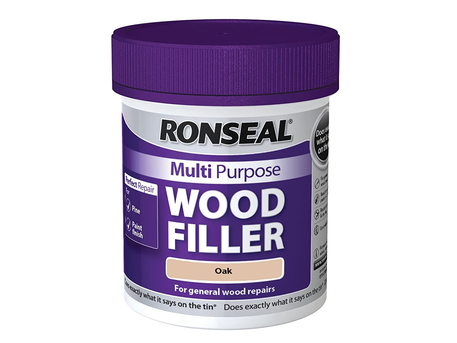 Ronseal MPWFL465 465 g Multi-Purpose Wood Filler Tub - Light