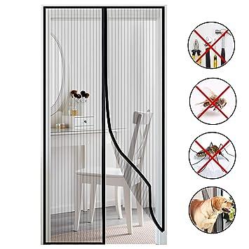 COAOC Magnet Fliegengitter Balkont/ür Fliegennetz Insektenschutz Automatisches Schlie/ßEn f/ür Balkont/ür Wohnzimmer Terrassent/ür Black 70x200cm 28x79inch