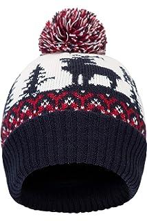 9403d1db80a Mountain Warehouse Xmas Fairisle Mens Winter Beanie - Comfortable Cap