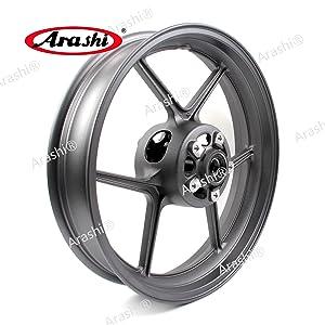 Arashi Front Wheel Rim for KAWASAKI NINJA ZX10R 2006-2010 / ZX6R 2005-2012 / Z750 2007 2008 Motorcycle Replacement Accessories Ninja ZX-6R ZX-10R Z 750 ZX 6R 10R Matte Black 2009 2010 2011