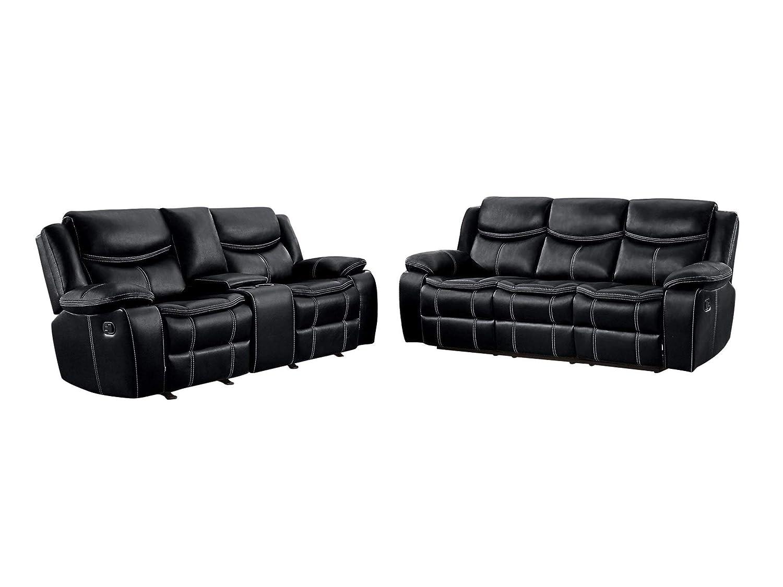 Amazon.com: Bogo 2PC Double Reclining Sofa & Center Console ...