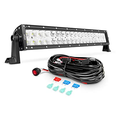 Nilight ZH017 22Inch 120W Spot Flood Combo Bar Led Off Road Lights with 16AWG Wiring Harness Kit, 2 Years Warranty: Automotive