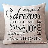 Iuhan® Fashion Square Pillow Cover Cushion Case Toss Pillowcase Hidden Zipper Closure