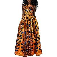 OLIPHEE Mujer Vestido Africano Floral Falda Multifuncional Fiestas Elegante Larga