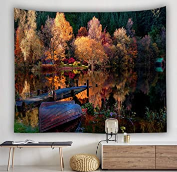 Amazon.com: Ljtsda Tapestry Background Cloth Tarpaulin ...