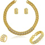 MOOCHI 18K Gold Plated Shinning Wide Necklace...