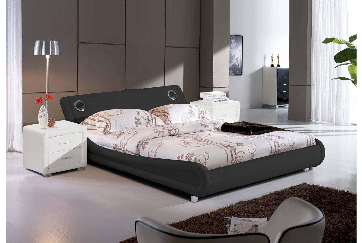 DreamWarehouse Madrid Bett mit Bluetooth-Lautsprechern – Schwarz ...