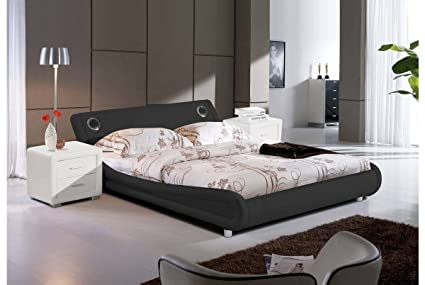 DreamGirl Madrid cama con altavoces Bluetooth, color negro, tamaño ...