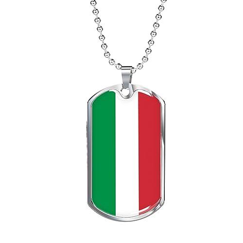 Amazon.com: Collar de cadena militar con etiqueta de la ...